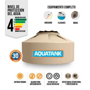 Tanque Aquatank 600 Litros Tricapa Chato