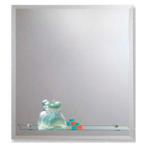 Reflejar Espejo Capilla Rectangular Biselado con Repisa