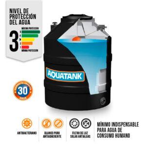 Tanque Aquatank 400 Litros Bicapa Negro