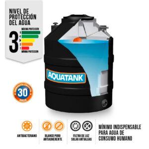 Tanque Aquatank 850 Litros Bicapa Negro